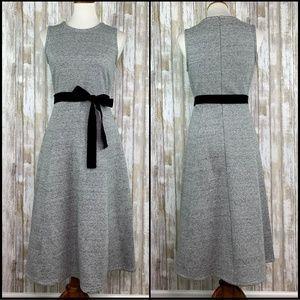 J Crew NWT Gray A-Line Velvet Tie Dress Size 4